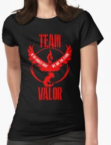 Team Valor - In the Darkest Night, We are the Flame Design #3 Womens Fitted T-Shirt