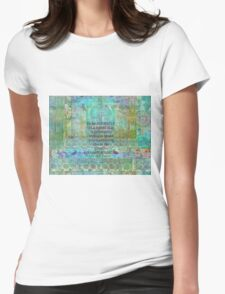 Ralph Waldo Emerson individuality quote Womens Fitted T-Shirt