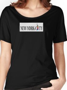 NYC Gay Pride Statue Of Liberty Rainbow Women's Relaxed Fit T-Shirt