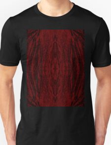 Red Tree Wood Mandala Unisex T-Shirt