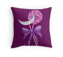 Cheshire Cat Lollipop Throw Pillow
