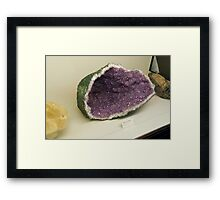 Thunder egg Framed Print