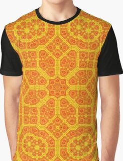 *Geometrical Sun Pattern* Graphic T-Shirt