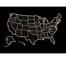 USA map doodle  Photographic Print