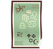 Type Term - Dingbats Poster