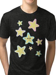 Pastel Twinkle Stars Tri-blend T-Shirt
