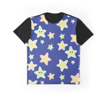 Pastel Twinkle Stars Graphic T-Shirt