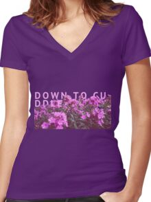 down to cuddle - they made me think of you. Women's Fitted V-Neck T-Shirt