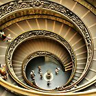 Vatican Museum Stairway: Looking Down by Barbara  Brown