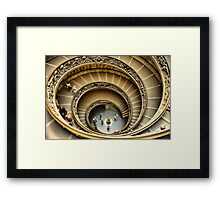 Vatican Museum Stairway: Looking Down Framed Print