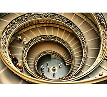 Vatican Museum Stairway: Looking Down Photographic Print