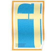 Type Terms - Cross Stroke Poster