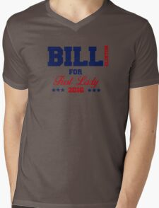 Bill Clinton For First Lady Mens V-Neck T-Shirt