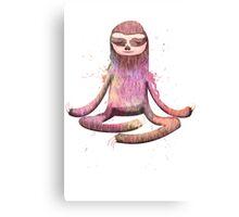 Meditation Sloth Canvas Print