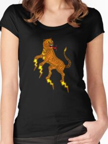 tiger lightning Women's Fitted Scoop T-Shirt