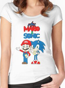 Ask Mario and Sonic Women's Fitted Scoop T-Shirt