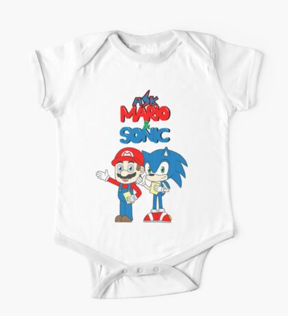 Ask Mario and Sonic One Piece - Short Sleeve