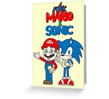 Ask Mario and Sonic Greeting Card
