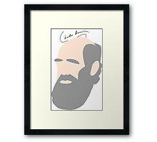 Charles Darwin Minimalist Framed Print