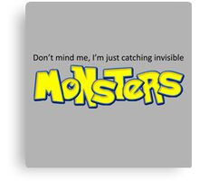 Catching Monster Pokemon Quote Canvas Print
