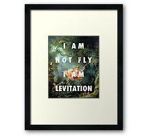 I AM NOT FLY, I AM LEVITATION Framed Print