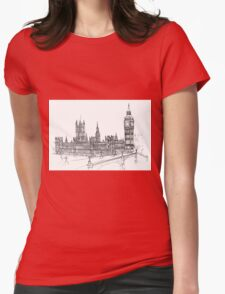 Pensil Drawing Womens Fitted T-Shirt