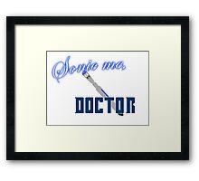 Sonic Me, Doctor Framed Print