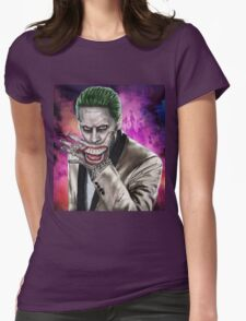 joker jared leto Womens Fitted T-Shirt