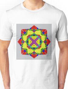 Psychedelic Red Mandela Unisex T-Shirt