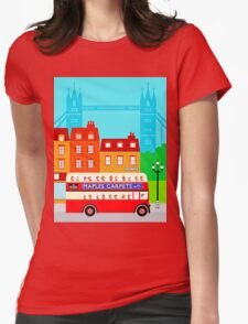 Double Decker Womens Fitted T-Shirt