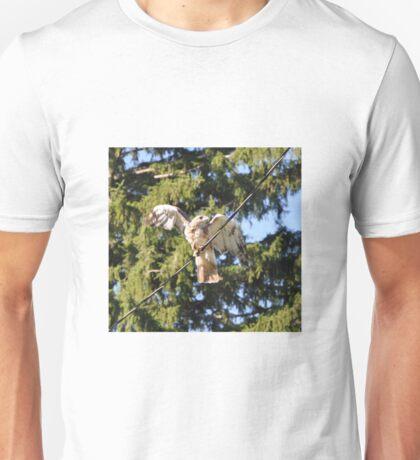 Hawk On a Wire  Unisex T-Shirt