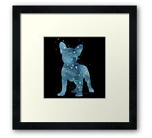 galaxy dog Framed Print