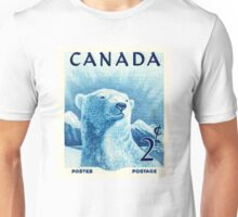 Vintage 1953 Canada Polar Bear Postage Stamp Unisex T-Shirt