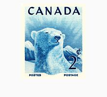 Vintage 1953 Canada Polar Bear Postage Stamp Unisex T-Shirt