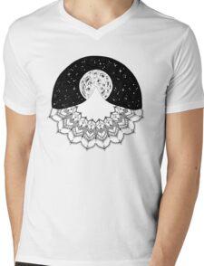 Mandala Mountain Mens V-Neck T-Shirt