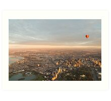 Sweeping view of Melbourne Art Print