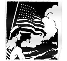 Naval Flag Poster