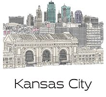 Hand Drawn Kansas City Skyline by itsrturn