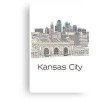Hand Drawn Kansas City Skyline Canvas Print