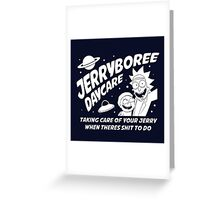 Rick and Morty Inspired Jerryboree Greeting Card