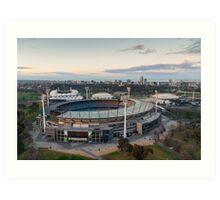 Melbourne Cricket Ground aerial view Art Print