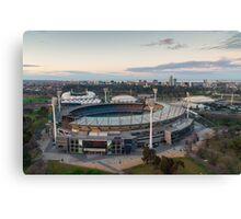 Melbourne Cricket Ground aerial view Canvas Print