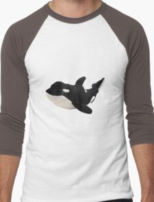 Orca Whale Men's Baseball ¾ T-Shirt