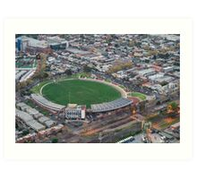 Victoria Park, Collingwood football stadium Art Print