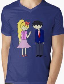 Shrewd and Savvy's Date Night! Mens V-Neck T-Shirt