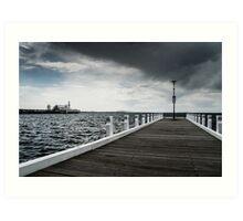 Cunningham Pier in Geelong, Australia Art Print