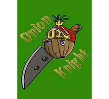 Onion Knight Photographic Print