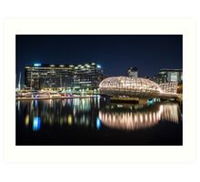 Webb Bridge in Melbourne, Australia Art Print