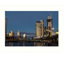 Crown Casino with full moon Art Print