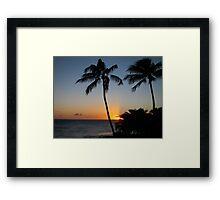 Poipu Sunset Framed Print
